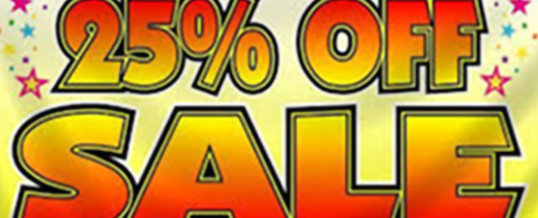 November Sale – Last Day of the Sale – NOVEMBER 30th – Hurry IN