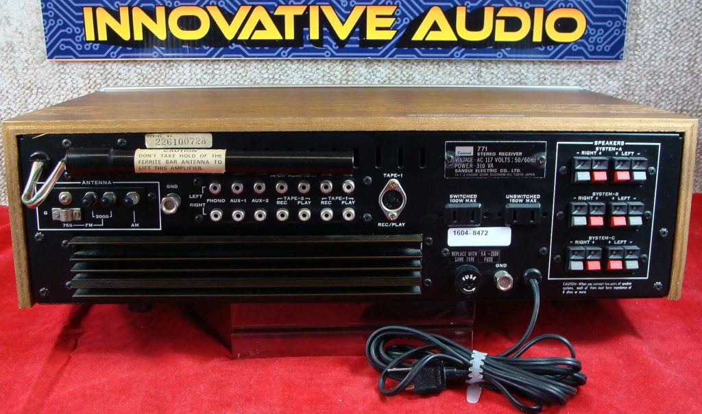 Innovative Audio Sansui 771 back – Innovative Audio