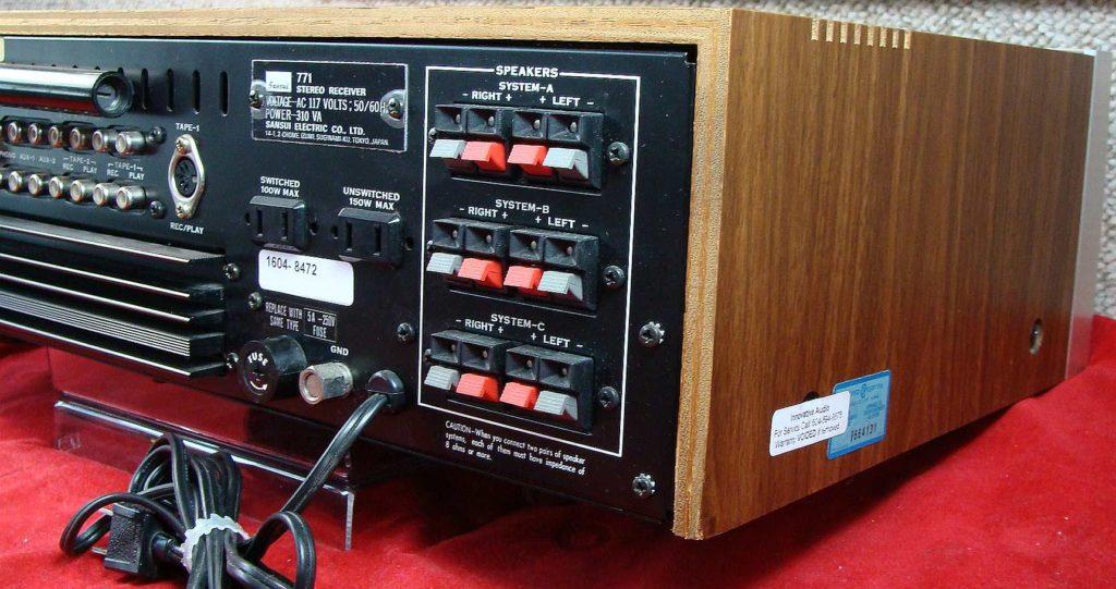 Innovative Audio Sansui 771 back right – Innovative Audio