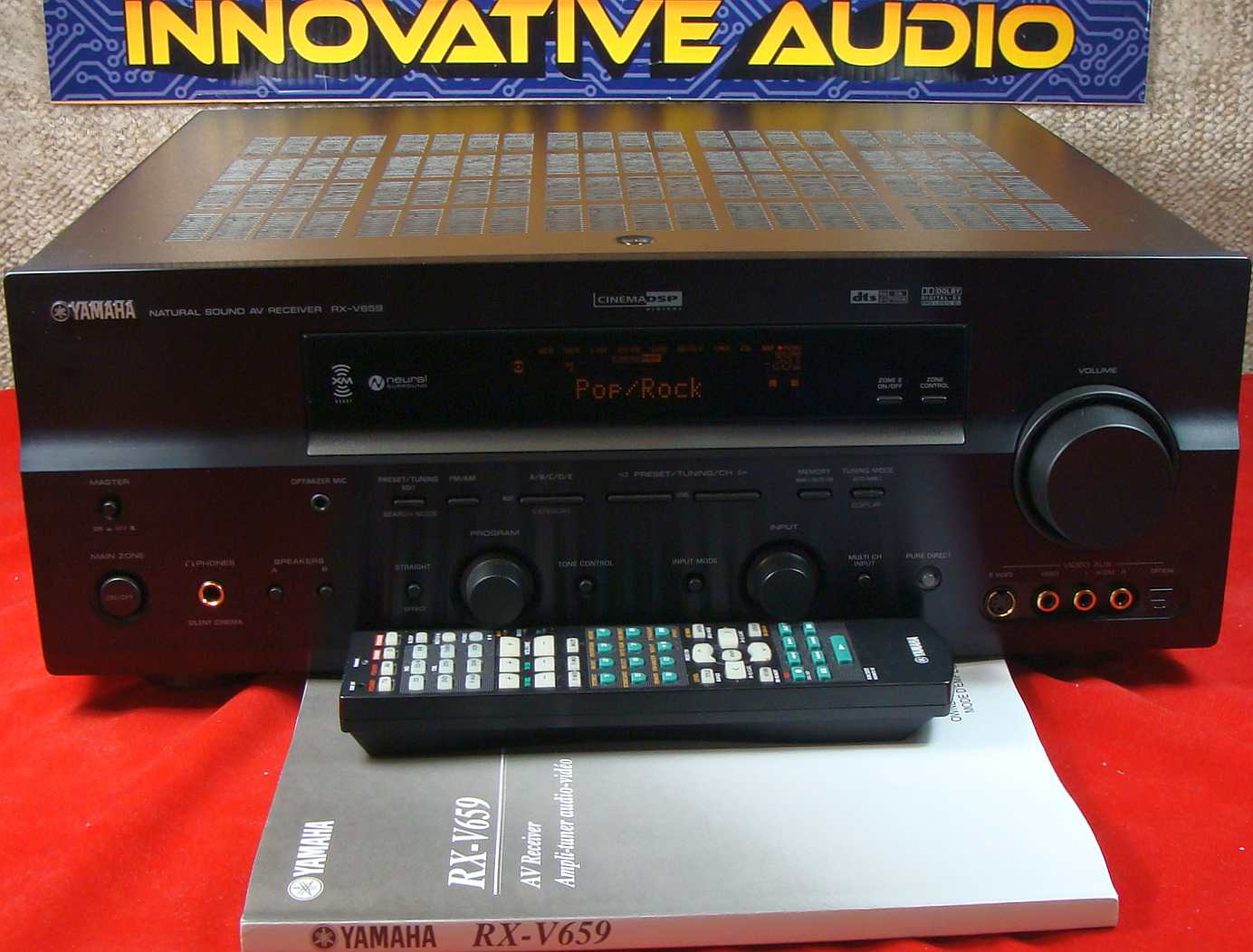 innovative audio yamaha rx v659 front with remote and manual rh iavscanada com yamaha av receiver rx-v659 manual yamaha rx v659 manual